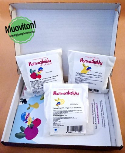 Hammaskeiju multi-flavor 3x100g plastic-free packaging, shipping included