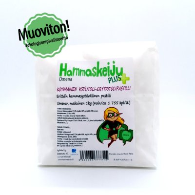 Hammaskeiju PLUS Apple 1kg, plastic-free
